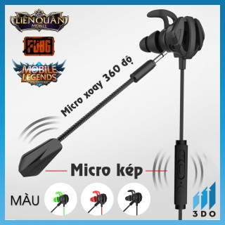 Tai nghe Gaming G6, âm thanh vòm 3D với màng loa 10mm cho âm thanh siêu thực, jack 3.5mm, micro kép 3DO thumbnail