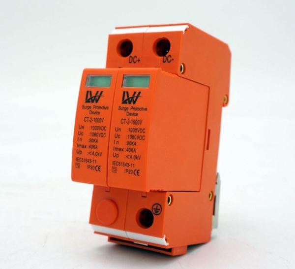 Bộ bảo vệ chống sét chống sét lan truyền 2P 3P 1000V DC 40KA LW thiết bị cắt lọc sét chống sét bảo vệ quang điện