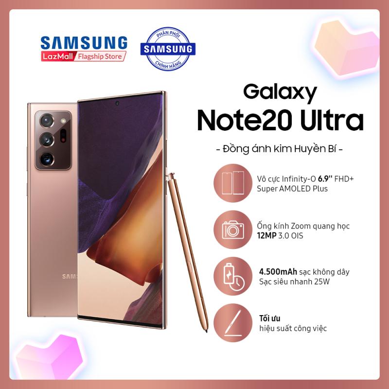 TẶNG GALAXY BUDS LIVE  VOUCHER 2,5 TRIỆU  Điện thoại Samsung Galaxy Note20 Ultra - Hàng phân phối chính hãng