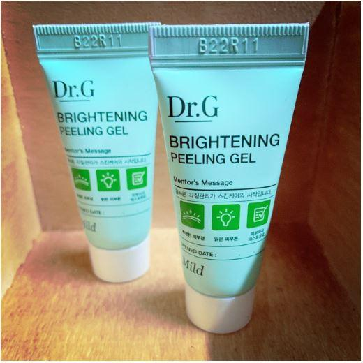 Combo 2 Sample Tẩy da chết Dr.G Brightening Peeling Gel Made in Kore