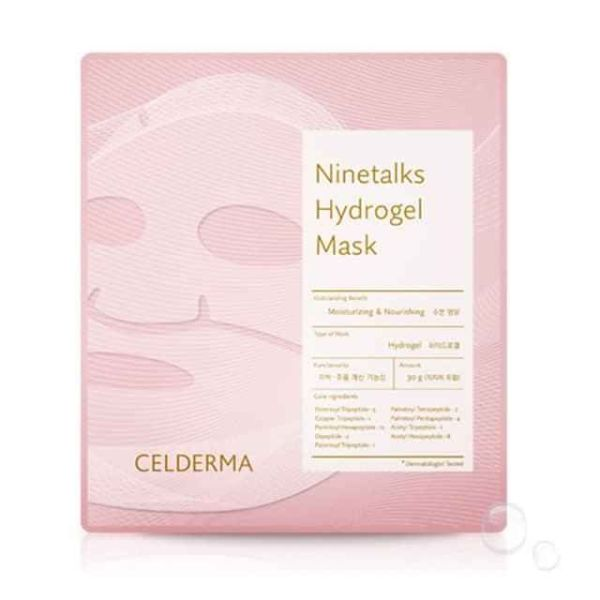 Mặt Nạ Thạch Sinh Học Cấp Ẩm, Đàn Hồi, Căng Bóng Da Florence Store Celderma Ninetalks Hydrogel Mask 30G | 1 Miếng cao cấp