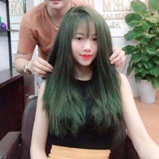 Thuốc nhuộm tóc màu Rêu Xanh + kèm trợ nhuộm thumbnail