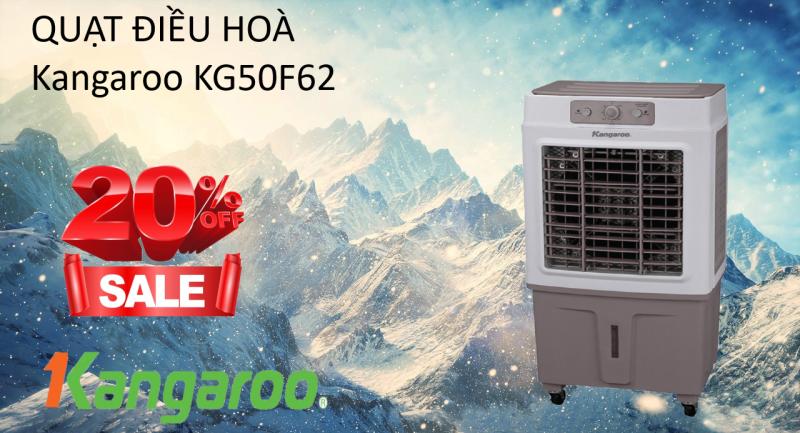 (Bảo hành 5 năm - 1 đổi 1 trong 7 ngày ) Quạt điều hoà Kangaroo KG50F62 chính hãng diện tích 50m thể tích bình chưa 40m3 - siêu tiết kiệm điện năng hệ thống dàn lạnh thiết kế bằng gỗ sồi