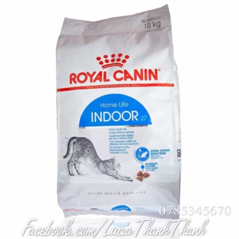 Thức ăn hạt khô cho mèo Royal Canin Indoor 27 10 kg