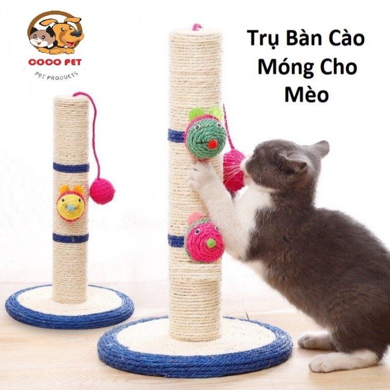 Trụ Cào Móng Bàn Cào Móng Cho Mèo Có Bóng Treo