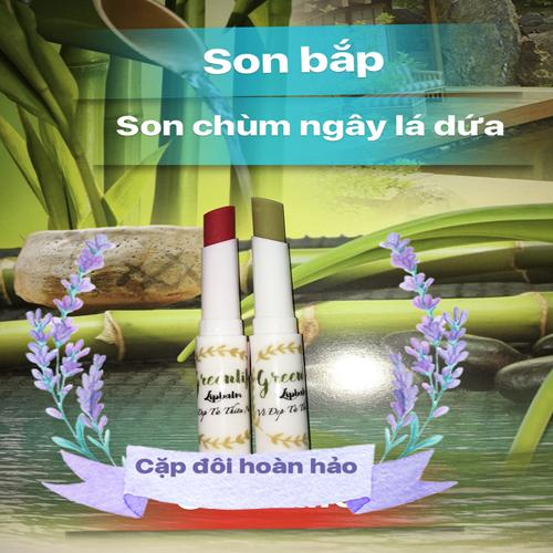 SON BẮP  KHUYẾN MÃI KHỦNG MUA MỘT TĂNG MỘT SON LÁ DỨA tốt nhất