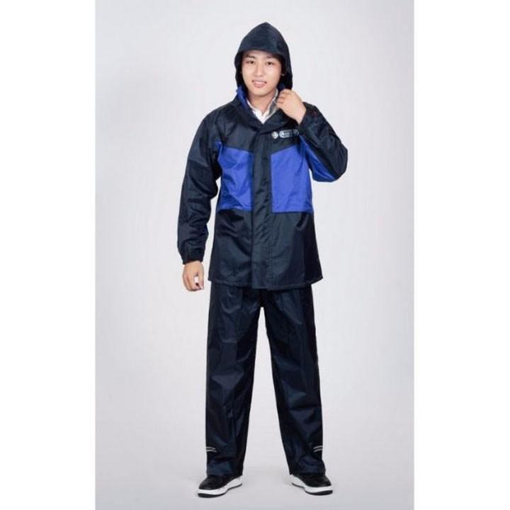 Áo mưa bộ 2 lớp K5 (Xanh phối đen)