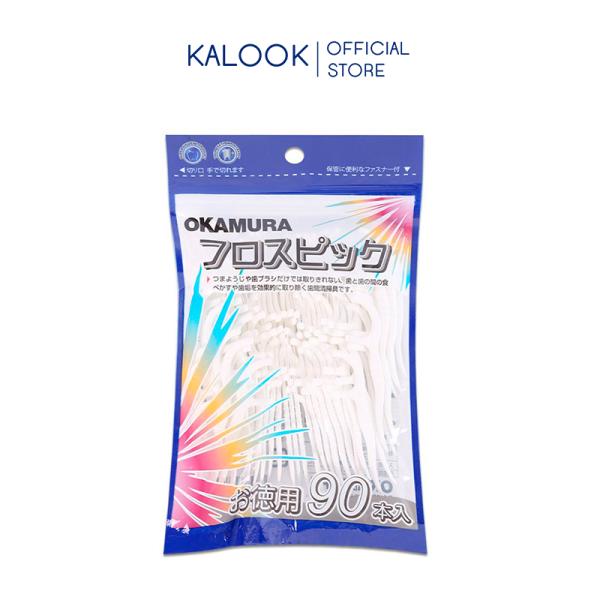 Tăm chỉ nha khoa Okamura túi 90 cây Nhật Bản, làm sạch kẽ răng hiệu quả nhanh chóng - KALOOK