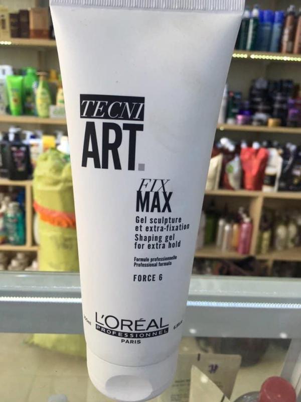 GEL ĐỊNH HÌNH TÓC SIÊU CỨNG LOREAL TECNI.ART FIX MAX 200ML Độ Cứng : 6 giá rẻ