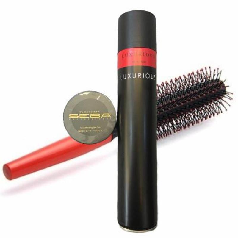 Combo gôm xịt tóc luxurious + sáp Seba tặng lược giá rẻ