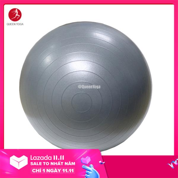 Bóng Tập Yoga-Gym Cao cấp Queen Yoga 65cm dày 2mm Chống Nổ - Tặng bơm bóng và phụ kiện - Bóng Tập Thể Dục Dùng Cho Cả Trẻ Em