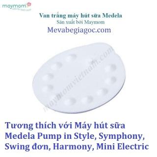 1 Van trắng Maymom - Tương thích với Máy hút sữa Medela Pump in Style, Symphony, Swing đơn, Harmony, Mini Electric thumbnail