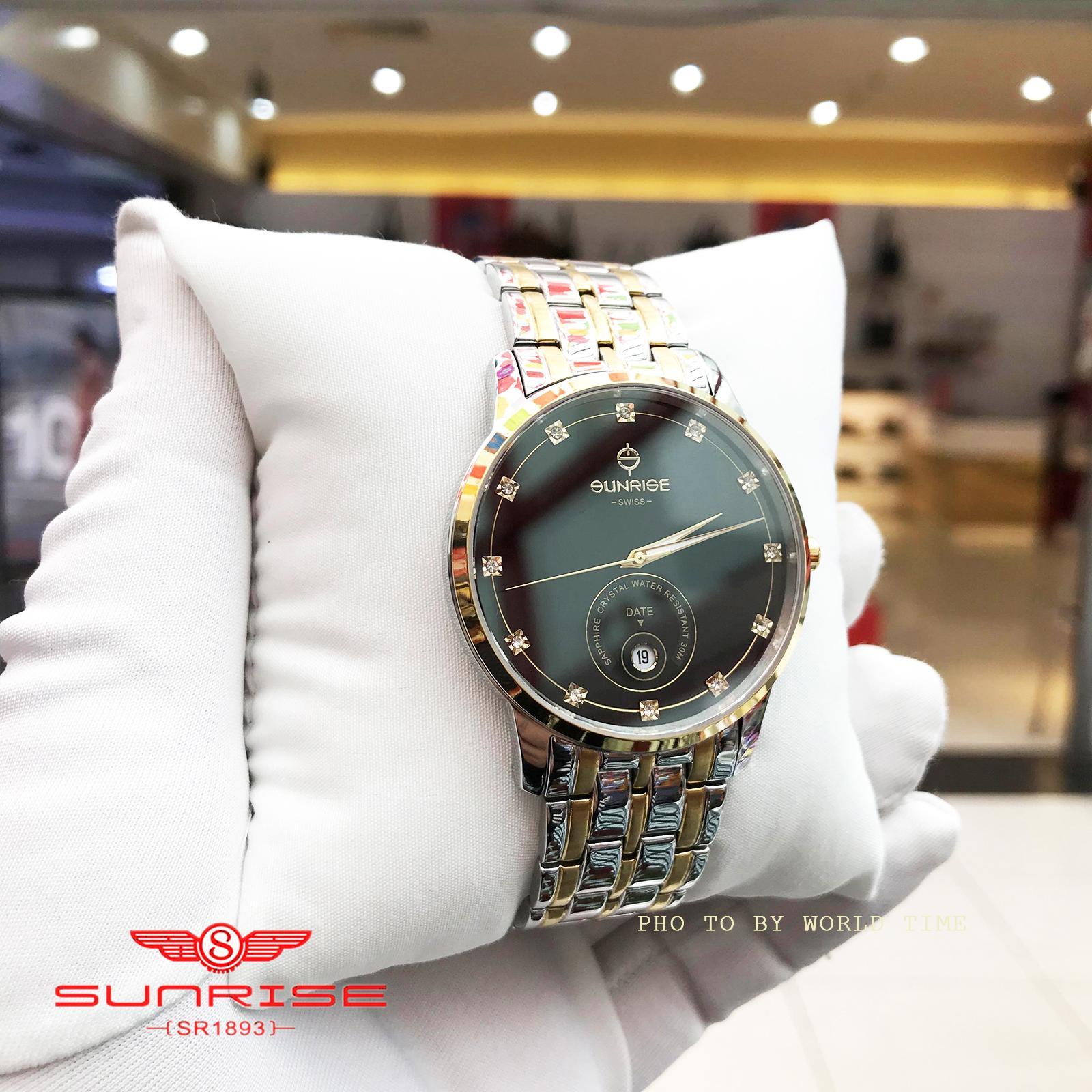 Nơi bán [TRỢ GIÁ] Đồng hồ Nam Sunrise 1138SA - Full hộp , thẻ bảo hành hãng - Sapphire chống xước , chống nước