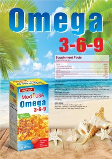 [hộp 100 viên] Viên dầu cá Omega 369 Medi USA Bổ não, sáng mắt, khỏe mạnh tim mạch, tăng cường trí nhớ - Hộp 100 viên thành phần dầu cá 1000mg, EPA 180mg, DHA 120mg thumbnail
