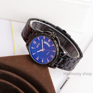 Đồng hồ nam thời trang chống nước mặt ánh xanh SKMEI Tặng vòng tay Tỳ Hưu thumbnail