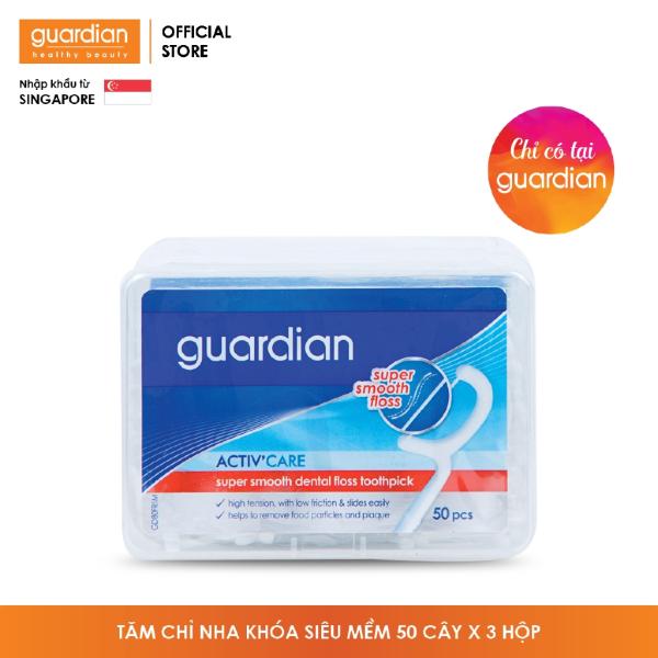 Tăm chỉ răng nha khoa Guardian – 50 cây x 3 hộp cao cấp