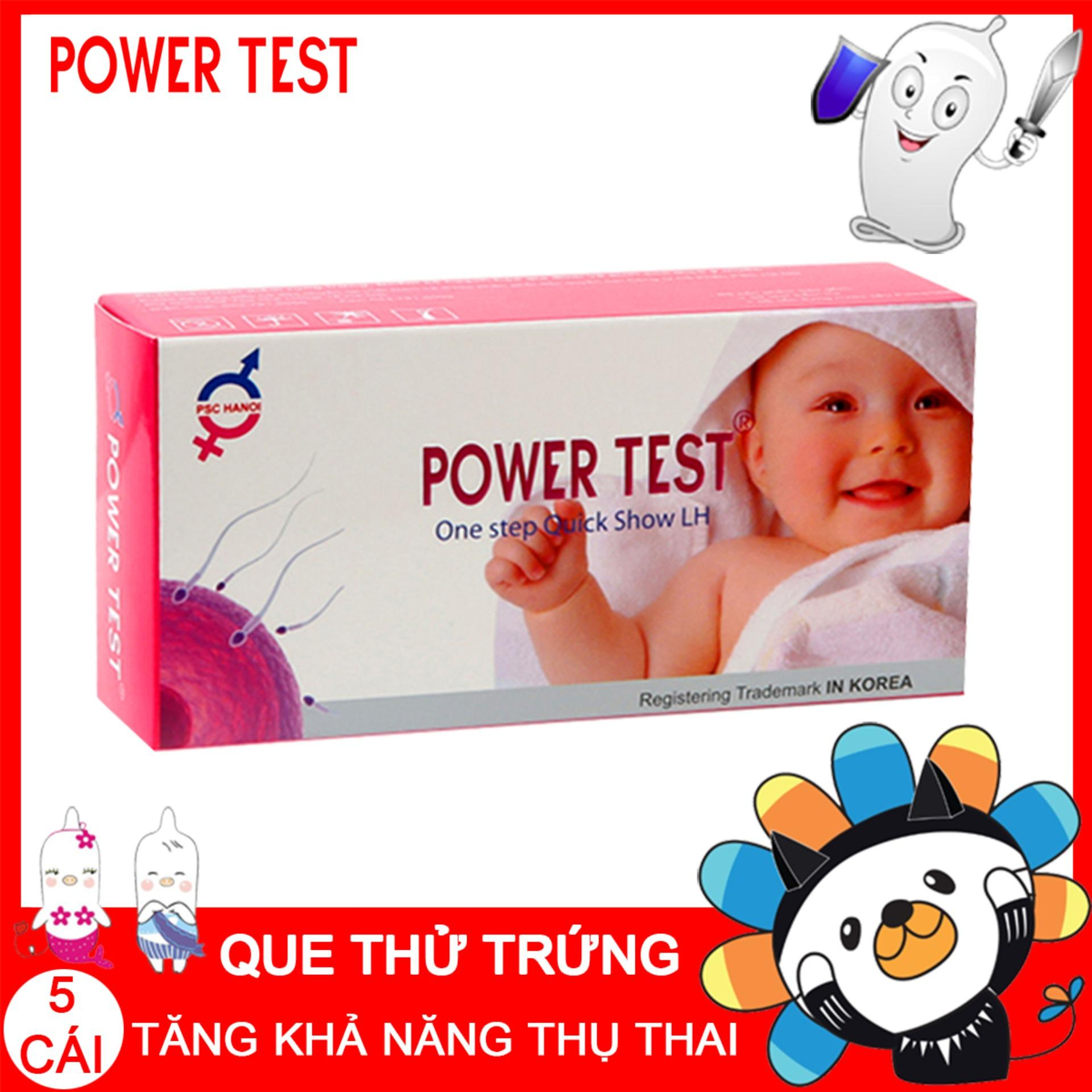 Que thử rụng trứng Powertest Hộp 5 que