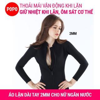 Áo lặn biển cho nữ dài tay dày 2mm giữ ấm cơ thể, áo lặn nữ ngăn nước tiếp xúc với cơ thể hỗ trợ lặn biển MY122 POPO Collection thumbnail
