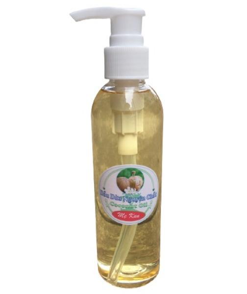 Dầu dừa nguyên chất nhà làm (220ml chai vòi ấn), dầu dừa nấu thủ công sạch sẽ, chuẩn xịn giá rẻ