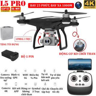 (TẶNG TÚI ĐỰNG) - Flycam L5PRO Camera 4K Gymbal 3 trục Định vị GPS Wifi 5G thời gian bay 25 phút bay xa 1km truyền hình ảnh trực tiếp về điện thoại - BẢO HÀNH 3 THÁNG