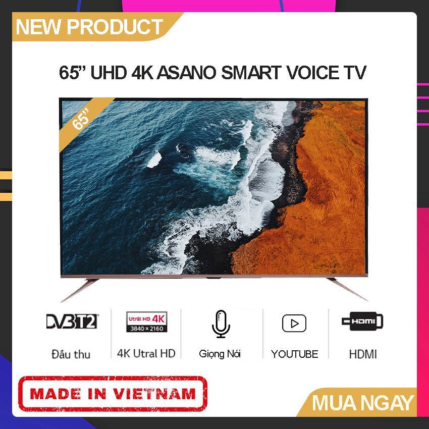 Bảng giá Smart Voice TV Asano 65 inch Full HD - Model 65EK7 (Android 7.1, Tích hợp giọng nói, Youtube, Tích hợp DVB-T2) - Bảo Hành 2 Năm