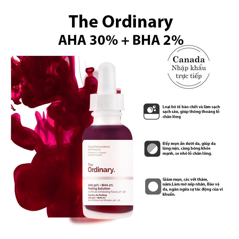 The Ordinary. AHA 30% + BHA 2% Peeling Solution Tẩy Tế Bào Chết Peel Da Cấp Ẩm Serum Làm Sáng Da Chống Lão Hóa 30ml giá rẻ
