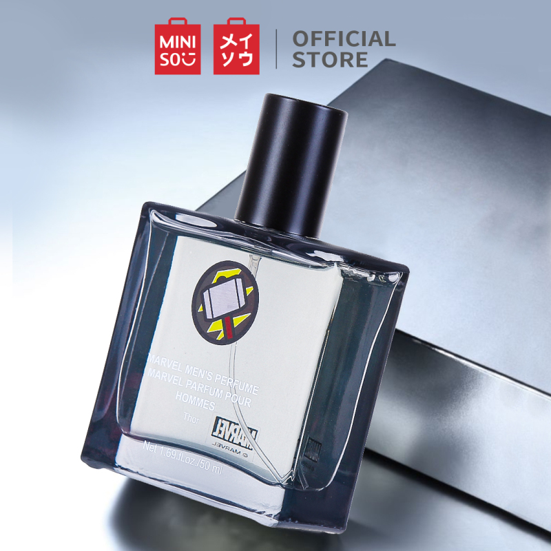Nước hoa nam mùi hương mạnh mẽ và lịch lãm thơm lâu dạng xịt kiểu dáng nhỏ gọn Miniso Marvel 50ml nhập khẩu