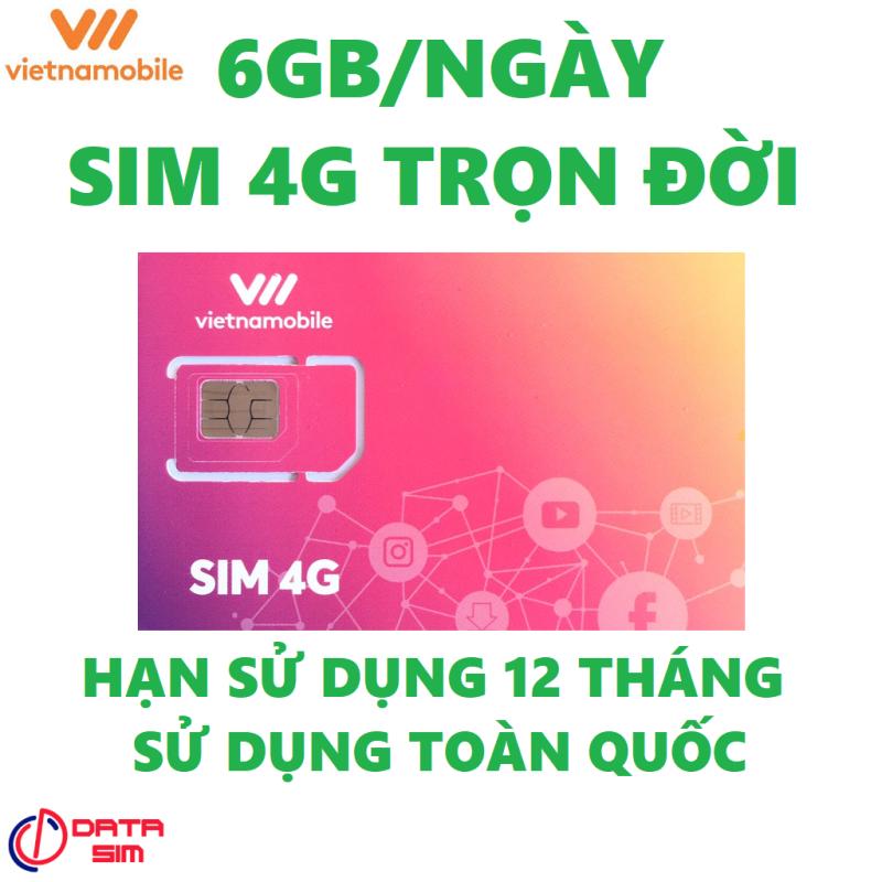 Sim 4G 180GB vietnamobile trọn đời có hạn sử dụng 12 tháng