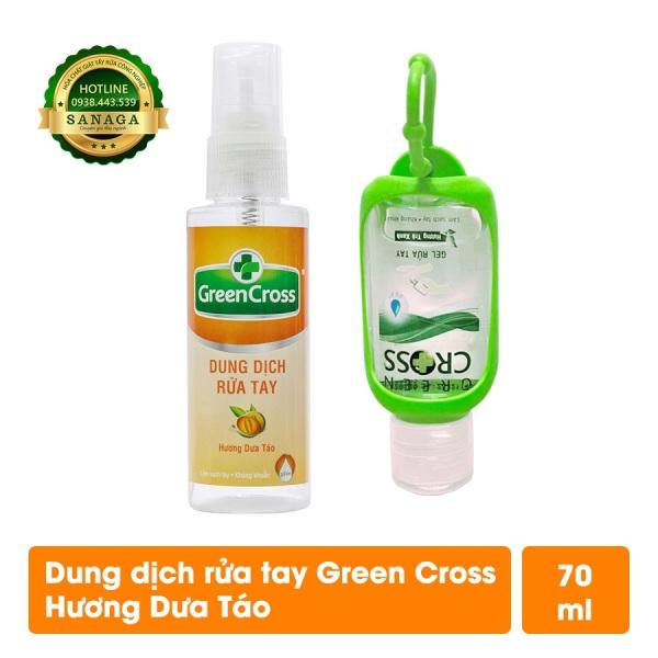 Combo Rửa Tay Khô GREEN CROSS - 01 chai Gel Rửa Tay 60ml +01 chai Nước Rửa Tay 70ml