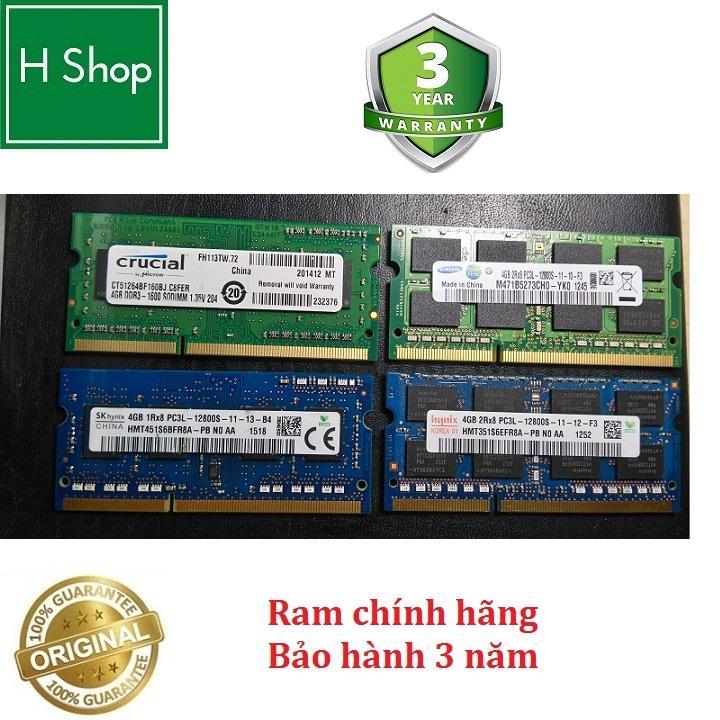 Offer Giảm Giá Ram Laptop DDR3L 4Gb Bus 1600 - 12800s, Bảo Hành 3 Năm