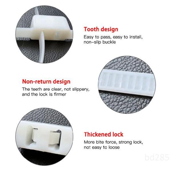 Mua 10 cái Flex Double Cuff Hạn chế dùng một lần Zip Tie Cuff Tự khóa Cuff Đen 3GTizqQM