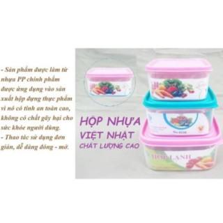 Hộp nhựa lạnh Việt Nhật - Đồ dùng nhà bếp tiện lợi Tiểu, cam kết hàng đúng mô tả, chất lượng đảm bảo an toàn đến sức khỏe người sử dụng thumbnail