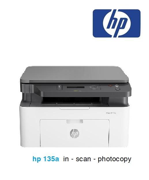 Máy in HP LaserJet MFP 135a – in scan photocopy - mực rẻ