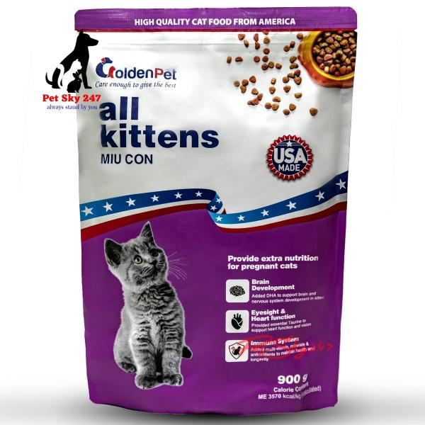 Thức Ăn Hạt Golden Pet Cho Mèo Con Gói 900 Gram - USA