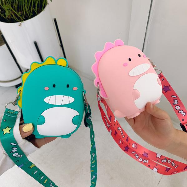 Giá bán Túi đeo chéo cho bé gái mini ZAKUDO Silicon hình KHỦNG LONG dễ thương, ngộ nghĩnh, thời trang phong cách Hàn Quốc TX23