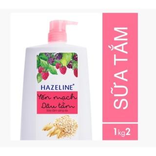 Sữa tắm dưỡng sáng da Hazeline Yến mạch - Dâu tằm 1.2Kg thumbnail
