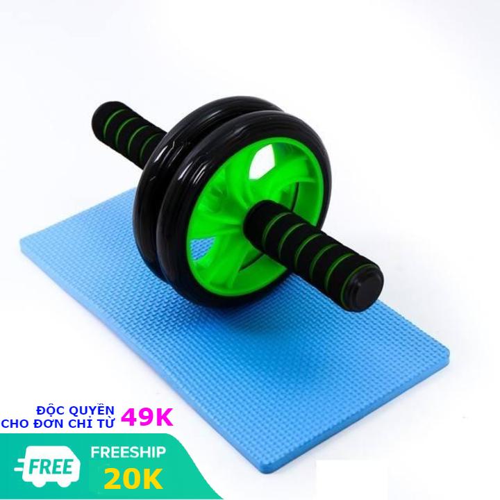 Con lăn tập cơ bụng Ab 2020 dụng cụ máy tập gym bánh xe máy tập bụng giảm mỡ tặng kèm thảm tập - con lăng giảm eo chịu lực tốt bền bỉ tập thể dục tại nhà (có video và ảnh thật)