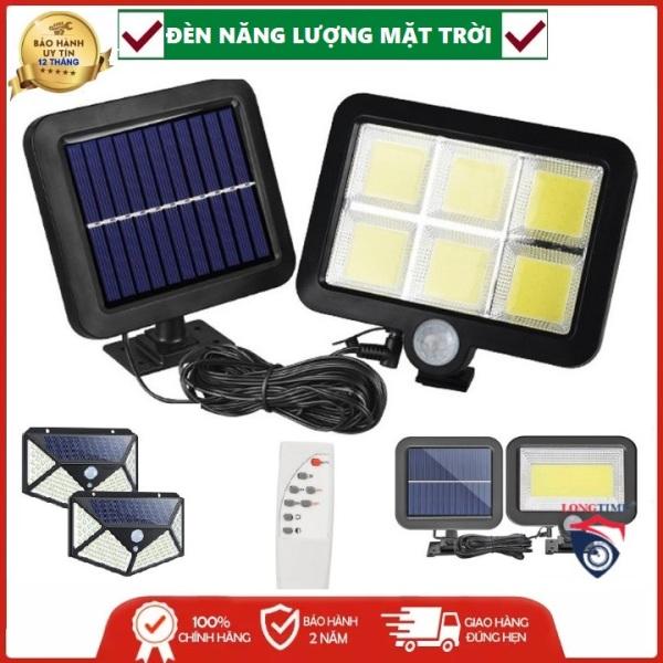 Đèn Năng Lượng Mặt Trời- Tự động sáng khi trời tối, tự động sáng khi có người đến gần, chống nước chống bụi chuẩn IP66 ,sử dụng 6 tiếng, ánh sáng tỏa đều