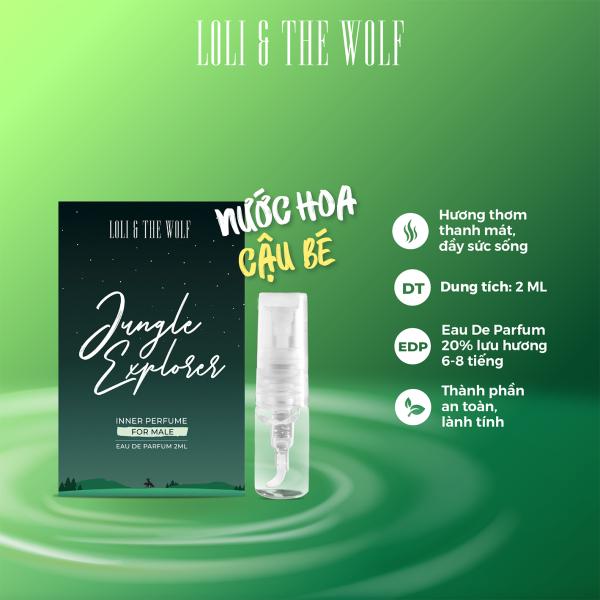Nước hoa vùng kín nam Jungle Explorer chai 2ml nhỏ gọn tiện lợi - LOLI & THE WOLF