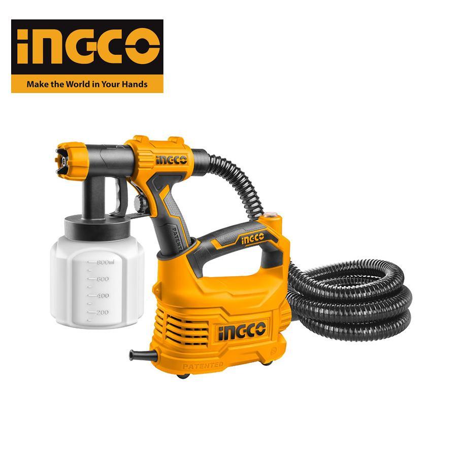 500W Máy phun sơn bình nhựa INGCO SPG5008 ( kèm theo gồm 1 ly đo độ nhớt và 1 kim làm sạch vòi phun)