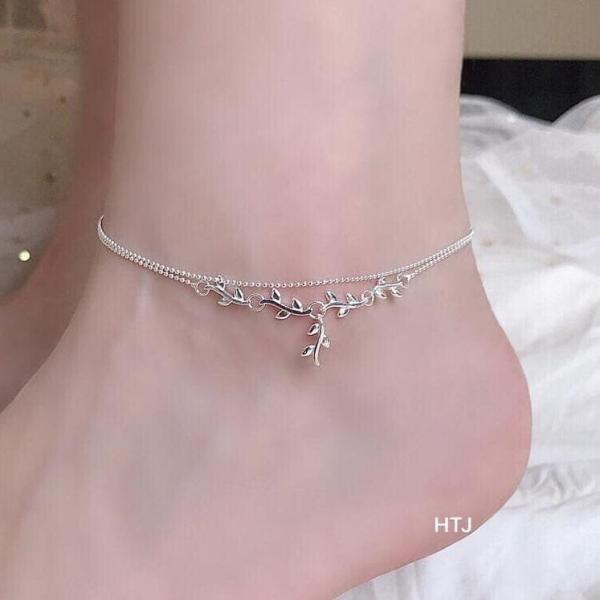 Lắc chân bạc Ý sợi mảnh MS128