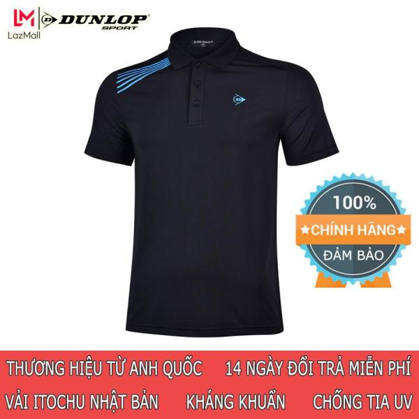 Áo thể thao Tennis nam Dunlop - DATES9070 kiểu Polo thun nam phù hợp chơi cầu lông tennis mặc hàng ngày