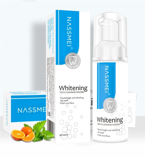 [HCM]NASSMEI Bọt Tẩy Trắng Răng Làm Sạch Răng Khử Mùi Hôi Miệng Mousse Teeth Whitening Clean Teeth 60ml
