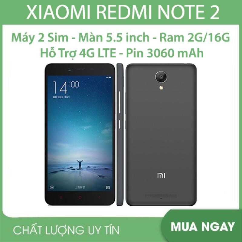 Điện thoại cảm ứng Xiaomi Redmi Note 2 5.5inch (2 sim 2 sóng) - RAM 2GB bộ nhớ 16GB cấu hình mạnh chơi game mượt