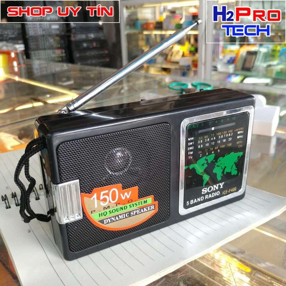 Đài Radio Chuyên Dụng Sony ICF F400 loại 2 pin ( tặng đôi pin )