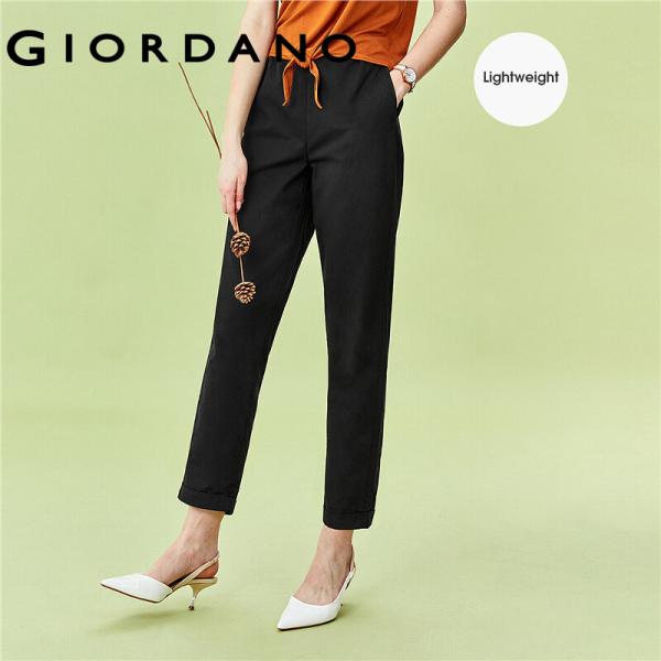 Quần tây nữ chất liệu cao cấp lưng thun thoải mái có túi tiện lợi thời trang quốc tế Giordano 05420354