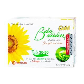 Cân bằng nội tiết tố, giúp hạn chế lão hoá, giảm nếp nhăn cho phụ nữ từ 30-50 tuổi BẢO XUÂN GOLD 30 viên thumbnail
