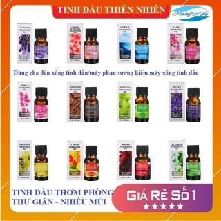 Tinh dầu thơm phòng, từ thiên nhiên làm thơm thư giãn dùng cho đèn xông tinh dầu, máy khuếch tán tinh dầu, máy phun sương, nhiều mùi lựa chọn -10ml thumbnail