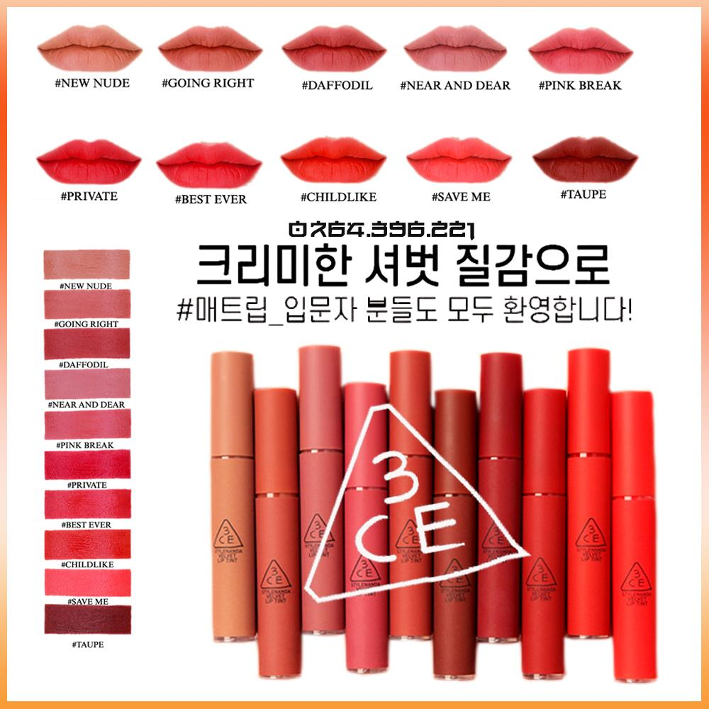 Son Kem Lì 3CE Velvet Lip Tint tốt nhất