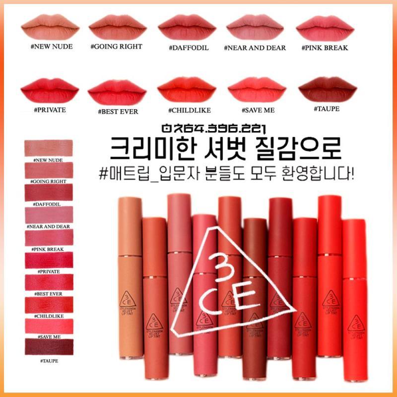 Son Kem Lì 3CE Velvet Lip Tint cao cấp